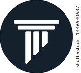 pillar logo  law flat icon...