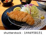 japanese deep fried pork cutlet ... | Shutterstock . vector #1446958151
