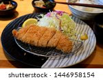 japanese deep fried pork cutlet ... | Shutterstock . vector #1446958154