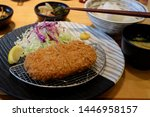 japanese deep fried pork cutlet ... | Shutterstock . vector #1446958157