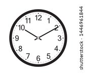 wall clock isolated on the... | Shutterstock .eps vector #1446961844