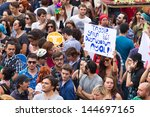 istanbul   june 30  people in... | Shutterstock . vector #144697165