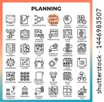 planning concept icon set in...