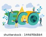 save the planet from pollution  ... | Shutterstock .eps vector #1446986864