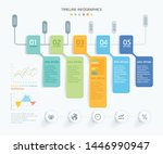 business infographic elements... | Shutterstock .eps vector #1446990947