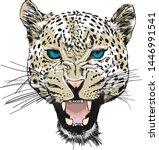 Leopard Head Silhouette  Vecto...