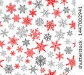 christmas seamless pattern of... | Shutterstock .eps vector #1447002941