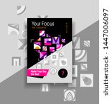 template flyer or magazine or... | Shutterstock .eps vector #1447006097