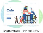Stock vector cafe vector website template web page and landing page design for website and mobile site 1447018247