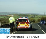 Policeman With Car  Stopping...