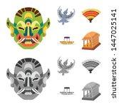 vector design of and travel... | Shutterstock .eps vector #1447025141