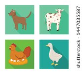 isolated object of breeding and ... | Shutterstock .eps vector #1447035587