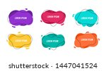 set of six abstract fluid shape ...   Shutterstock .eps vector #1447041524