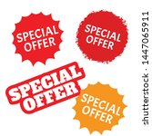 special offer labels set.... | Shutterstock .eps vector #1447065911