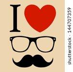 print i love hipster style ... | Shutterstock .eps vector #144707359