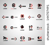 abstract icons set   isolated... | Shutterstock .eps vector #144707491