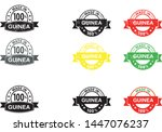 made in guinea collection of... | Shutterstock .eps vector #1447076237