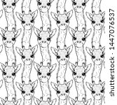 hand drawn pattern of a funny... | Shutterstock .eps vector #1447076537