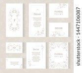 vector set ornamental... | Shutterstock .eps vector #1447106087