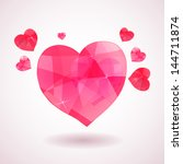 pink geometric heart with...   Shutterstock .eps vector #144711874