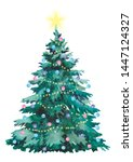 Watercolor Christmas Tree ...