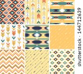 seamless geometric pattern in... | Shutterstock .eps vector #144712639
