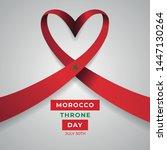 happy kingdom of morocco throne ... | Shutterstock .eps vector #1447130264