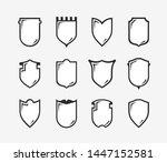 flat clip art design elements.... | Shutterstock .eps vector #1447152581