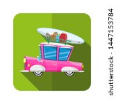 colorful vintage holiday car... | Shutterstock .eps vector #1447153784