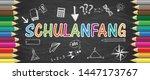 german text schulanfang ... | Shutterstock .eps vector #1447173767
