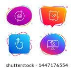 hand click  update data and... | Shutterstock .eps vector #1447176554