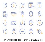 scroll down line icons.... | Shutterstock .eps vector #1447182284