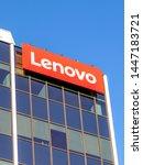 Small photo of Markham, Ontario, Canada - June 2, 2018: Sign of Lenovo at Lenovo Canada head office near Toronto in Markham. Lenovo is a Chinese technology company with headquarters in Beijing, China.