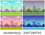 outdoor illustration. seamless... | Shutterstock .eps vector #1447184741