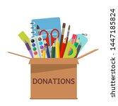 brown cardboard box for... | Shutterstock .eps vector #1447185824