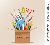 brown cardboard box for... | Shutterstock .eps vector #1447185827
