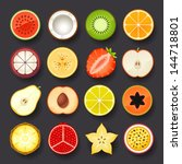 fruit icon set | Shutterstock .eps vector #144718801