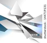 broken pieces abstract... | Shutterstock .eps vector #144719131