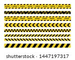 caution and danger tapes.... | Shutterstock .eps vector #1447197317