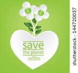 flower design. heart. go green. ... | Shutterstock .eps vector #144720037