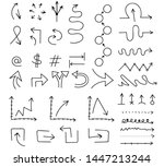 cartoon pictures set of... | Shutterstock .eps vector #1447213244