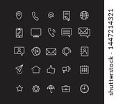 contact us set icons  vector... | Shutterstock .eps vector #1447214321