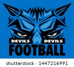 devils football mascot wearing... | Shutterstock .eps vector #1447216991