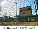 local old minor league baseball ... | Shutterstock . vector #1447219637