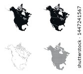 vector map of the north america   Shutterstock .eps vector #1447241567