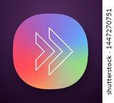 double arrow app icon....