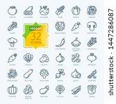 vegetarian  vegetable  veggies  ... | Shutterstock .eps vector #1447286087