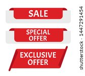 sale banner. sticker or... | Shutterstock . vector #1447291454