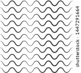 wavy pattern. waves outline... | Shutterstock . vector #1447291664