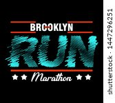 brooklyn run typography modern... | Shutterstock .eps vector #1447296251
